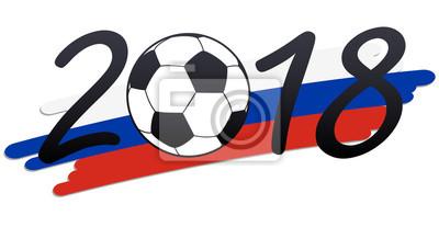 liternictwo 2018 z rosyjskimi barwami narodowymi