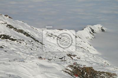 Lodowiec alpejski teren narciarski
