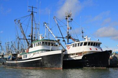 Naklejka Łodzie rybackie
