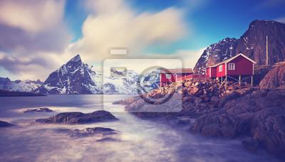 Naklejka Lofoty w zimie