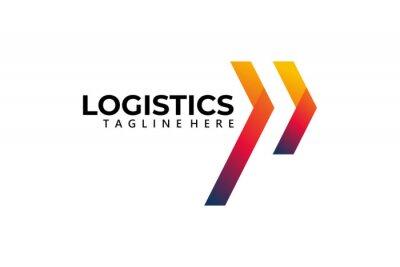 Naklejka logistic logo icon vector isolated