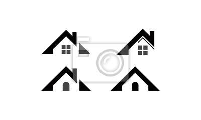 logo ikona domu na dachu