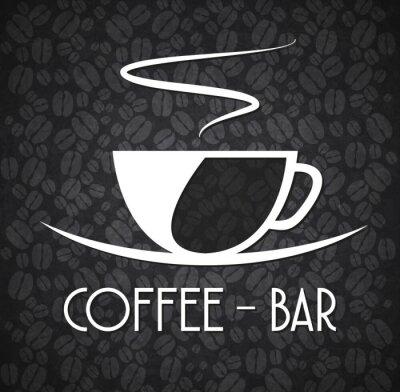 Naklejka Logo Minimalistyczny Coffee Bar Black and White