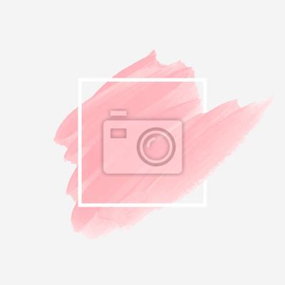 Naklejka Logo p? Dzlem malowane akryl streszczenie ilustracji t? A projektowania ilustracji wektora ponad ramki kwadratowych. Doskonały projekt akwarela dla nagłówka, logo i banner sprzedaży.
