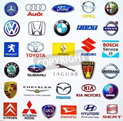 Naklejka Logos of international carmakers