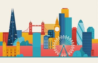 Naklejka London city illustration.