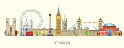 Naklejka London skyline vector 7
