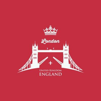Naklejka London Tower Bridge symbolem