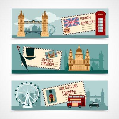 Naklejka London Turystyczna Banner Set