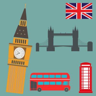 Naklejka Londyn grafika wektorowa