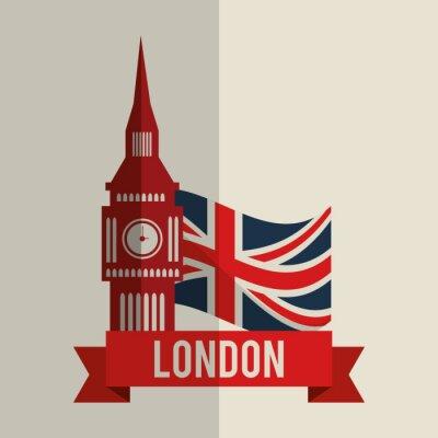 Naklejka londyn ikonę projektowania
