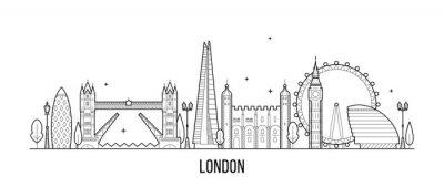Naklejka Londyn panoramę, Anglia, UK budynków miasta wektor