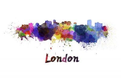 Naklejka Londyn skyline w akwarela