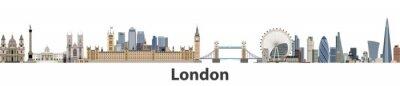 Naklejka Londyn wektora panorama miasta