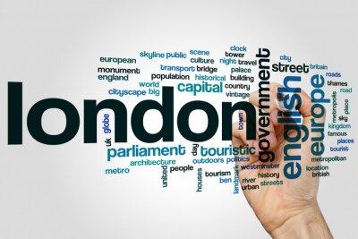 Naklejka Londyn word cloud