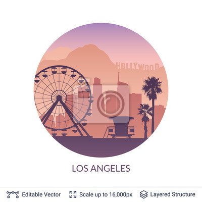 Los Angeles słynnego miasta scape.