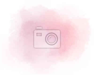 Naklejka łosoś akwarela plama malowane różowy tło wektor