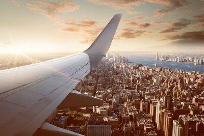 Naklejka Lot nad Nowym Jorku