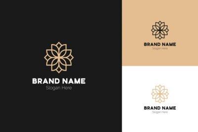 Lotus Logo Design. Lotus Flower Logo Vector. Lotus Spa Logo Template. Flower Logo Design