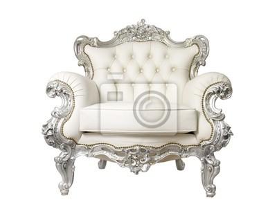 Luksusowy fotel samodzielnie na białym tle