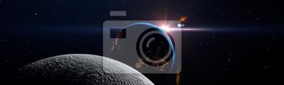 Naklejka Luna eclipse in space