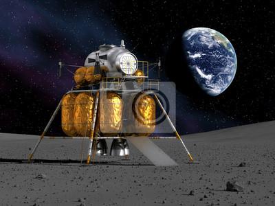 Lunar Lander On The Moon