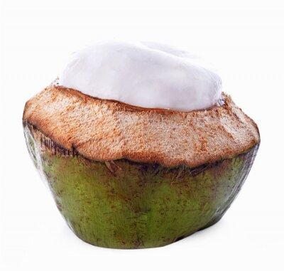 Naklejka Łupin orzecha kokosowego na białym tle