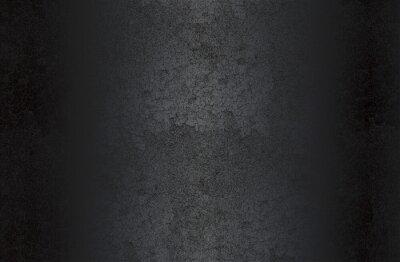 Naklejka Luxury black metal gradient background with distressed cracked concrete texture.