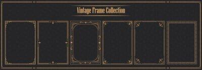 Naklejka Luxury vintage ornamental frame collection