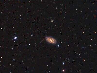 Naklejka M109 Galaxy sfotografowana przez teleskop i naukowej kamery CCD