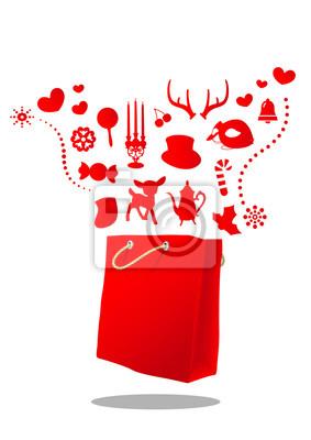 Magiczne Boże Narodzenie czerwony worek
