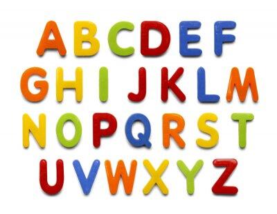 Naklejka Magnes Alfabet