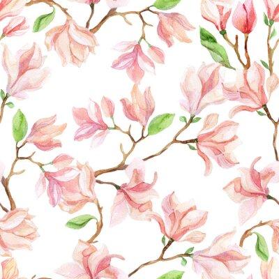 Naklejka magnolia akwarela gałęzie
