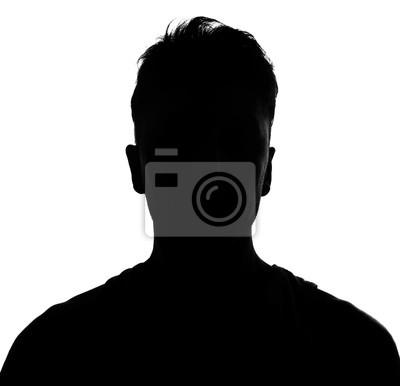Naklejka Male person silhouette