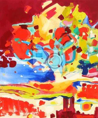 malowanie ilustracji wektorowych oleju