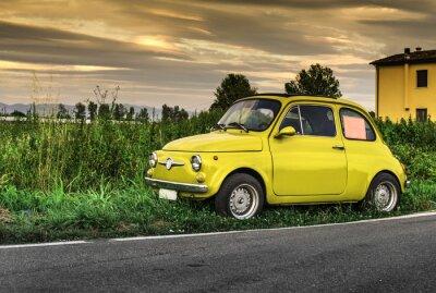 Naklejka Mały rocznik samochodu Fiat Abarth włoski
