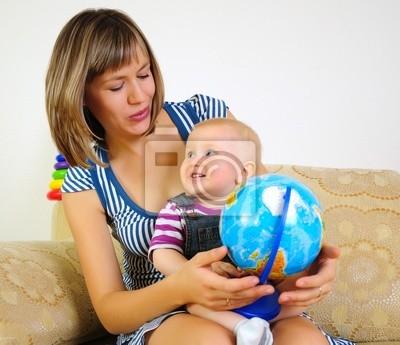 Mama i syn wspólnej zabawy