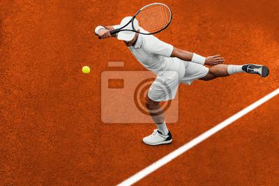 Naklejka Man playing tennis