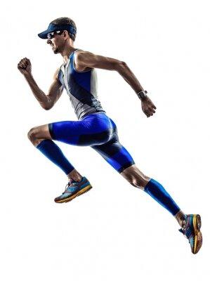Naklejka Man Triathlon biegaczy ironman sportowiec działa