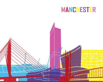 Naklejka Manchester skyline pop