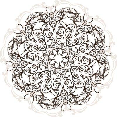 Naklejka Mandala etnicznych indian projektowania ilustracji