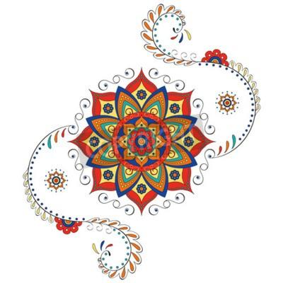 Naklejka Mandala Hinduski lotosu