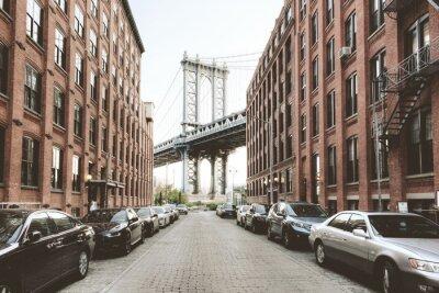 Naklejka Manhattan Bridge z Washington Street, Brooklyn