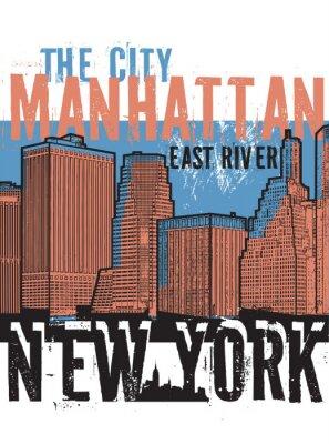 Naklejka Manhattan, miasto Nowy Jork