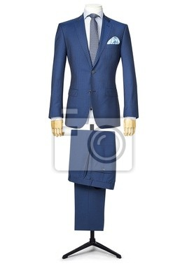 Naklejka mans suit isolated on white