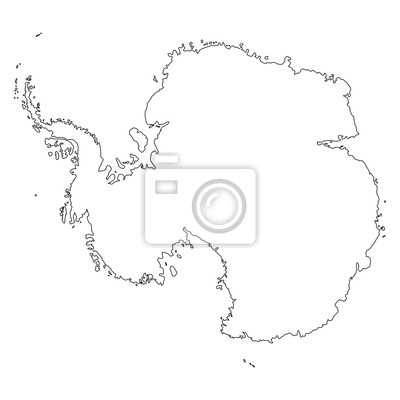 map of Antarctica on white background