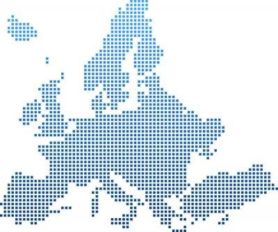 Naklejka map of Europe