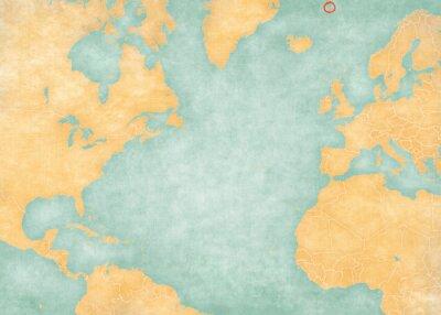 Naklejka Map of North Atlantic Ocean - Jan Mayen