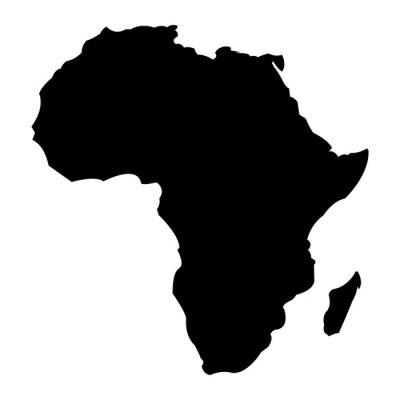 Naklejka Mapa Afryki