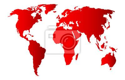 mapa czerwony świat